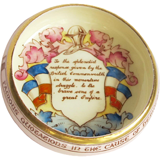 Vintage Paragon Commemorative Motto Dish - Patriotic Series - War of Britain