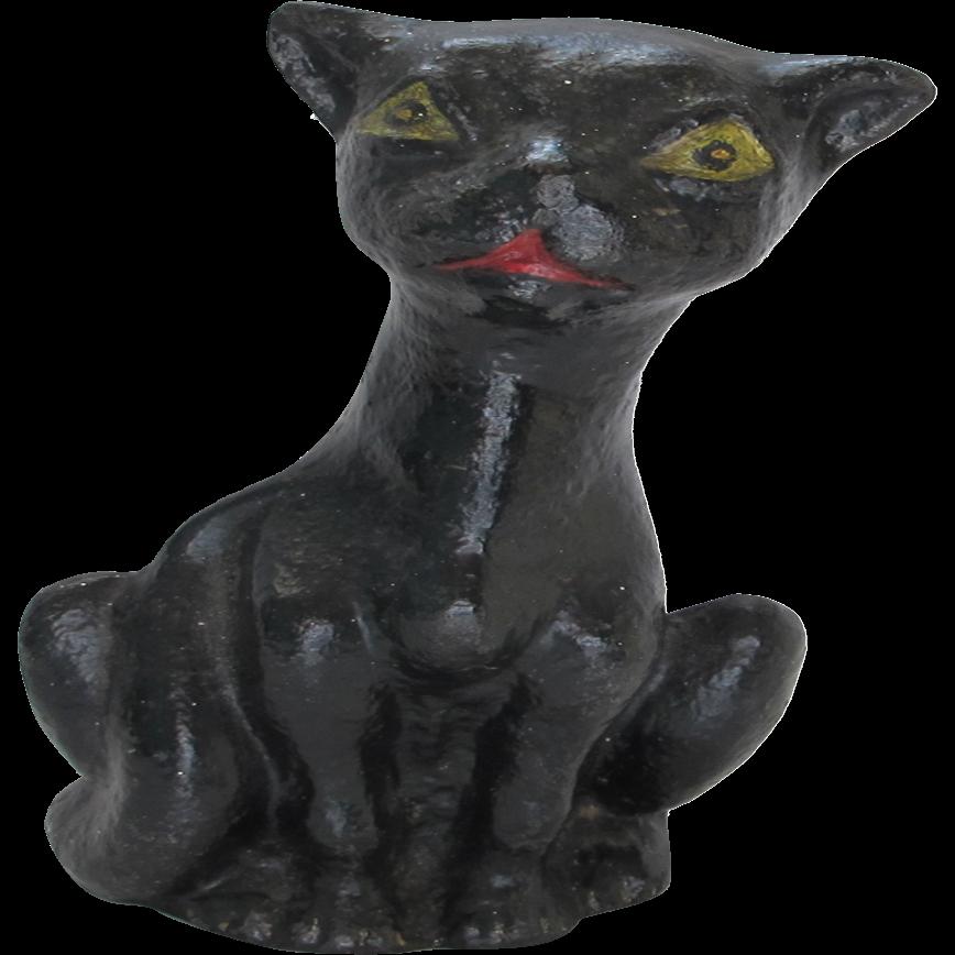 Vintage cast iron black krazy kat crazy cat doorstop from bremsantiques on ruby lane - Cast iron cat doorstop ...