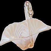 Vintage Duncan Miller Sylvan Swan - Opalescent Pink Glass