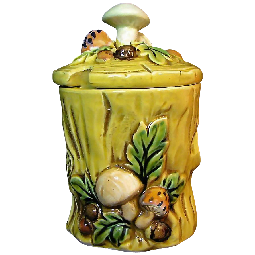 LEFTON's Mushroom Forest Jam Jar Design # 6358 circa 1970