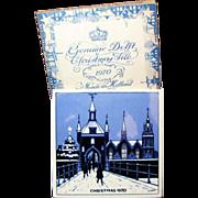Genuine Blue Delft Christmas Tile Original Box circa 1970