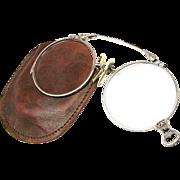 STERLING SILVER (14K SPG) Spring Loaded Folding Oxfords / Glasses w/ Ornate Chasing - Red Tag Sale Item