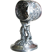 Rare Victorian REED BARTON SQUIRREL Standing Napkin Ring Holder c.1895