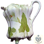 Art Nouveau Calla Lily RS GERMANY Rare Ornate Footed Porcelain Creamer c.1910