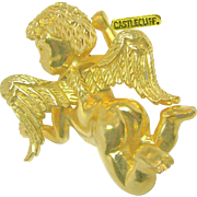 Vintage Castlecliff's Cherub Brooch Just Landed, Dubbed a 'Pinch Pin' c.1966