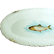 Art Nouveau Bawo 'n Dotter FISH PLATTER 18 in. Long c.1898
