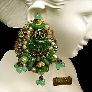 "Vintage EUGENE ""Empress Eugénie"" Style Earrings c.1950"