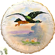 Art Nouveau Limoges Hand-painted Game Bird Plate c.1896 Artist Signed René