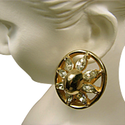 'Classic' 1940's REJA EARRINGS w/ Sparking Rhinestones 'Look like Real Thing'