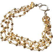 Golden Pyrite Gem Bracelet