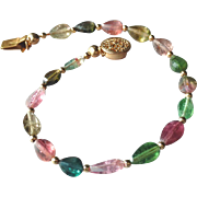 Brilliant Tourmaline Gemstone Bracelet with 14k Gold Fill