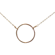 XL Circle Necklace, 14k Gold Fill, 20 Inches Long