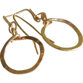 """Itsy Bitsy"" Hoop Earrings: Your Choice of 14k Gold Fill, Sterling Silver or Copper"