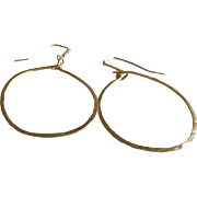 """Dreamy"" Hoop Earrings: Your Choice of 14k Gold Fill, Sterling Silver or Copper"