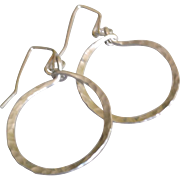 """Timeless"" Hoop Earrings: Your Choice of Sterling Silver, 14k Gold Fill or Copper"