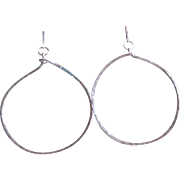 """Sunny"" Hoop Earrings: Your Choice of Sterling Silver, 14k Gold Fill or Copper"
