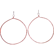 """Diva"" Hoop Earrings: Your Choice of Copper, Sterling Silver or 14k Gold Fill"