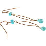 Apatite Jewel Earrings with 14k Gold Fill