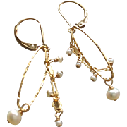Petite Freshwater Cultured Pearl Earrings with 14k Gold Fill