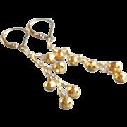 Golden Pyrite Gemstone Earrings