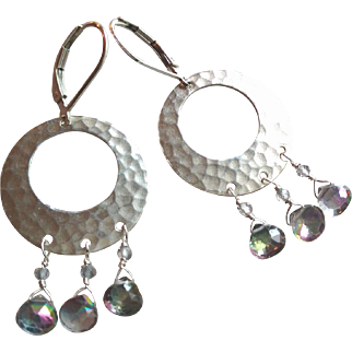 Mystic Topaz Gemstone Earrings with Sterling Silver