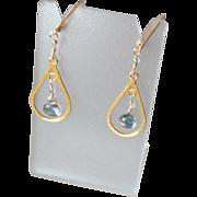 Mystic Topaz Gemstone Earrings with 14k Gold Fill
