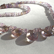 Spectacular Ametrine Gemstone Necklace with 14k Gold Fill