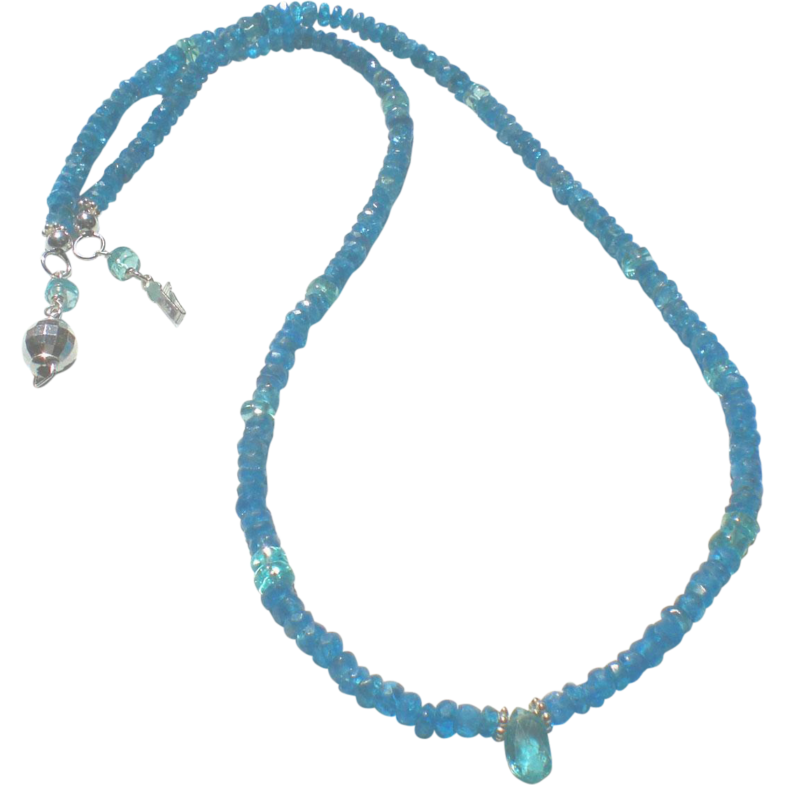 Apatite gemstone necklace sold on ruby lane for Eurasia jewelry miami fl