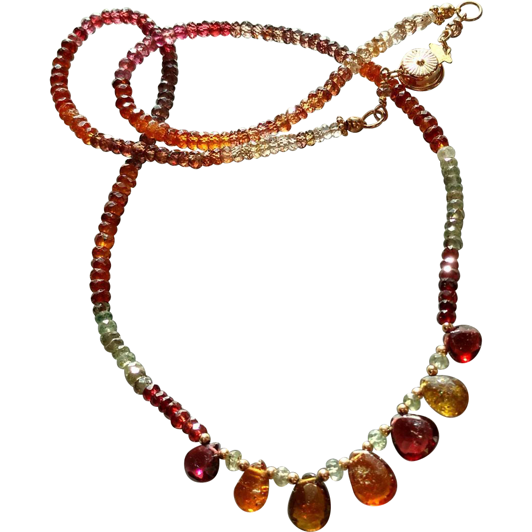 Tunduru Sapphire Necklace with 14k Gold Fill