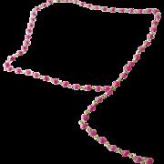 Pink Tourmaline Gem Chain Y-Style Necklace