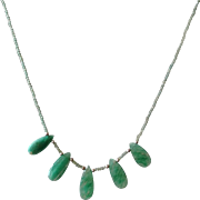 Columbian Emerald Gemstone Necklace, May Birthstone