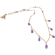 Tanzanite Jewel Necklace with 14k Gold Fill