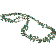 Peruvian Opal Gem Chain Necklace