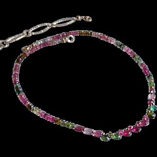 Dazzling Tourmaline Gemstone Necklace, Version 2