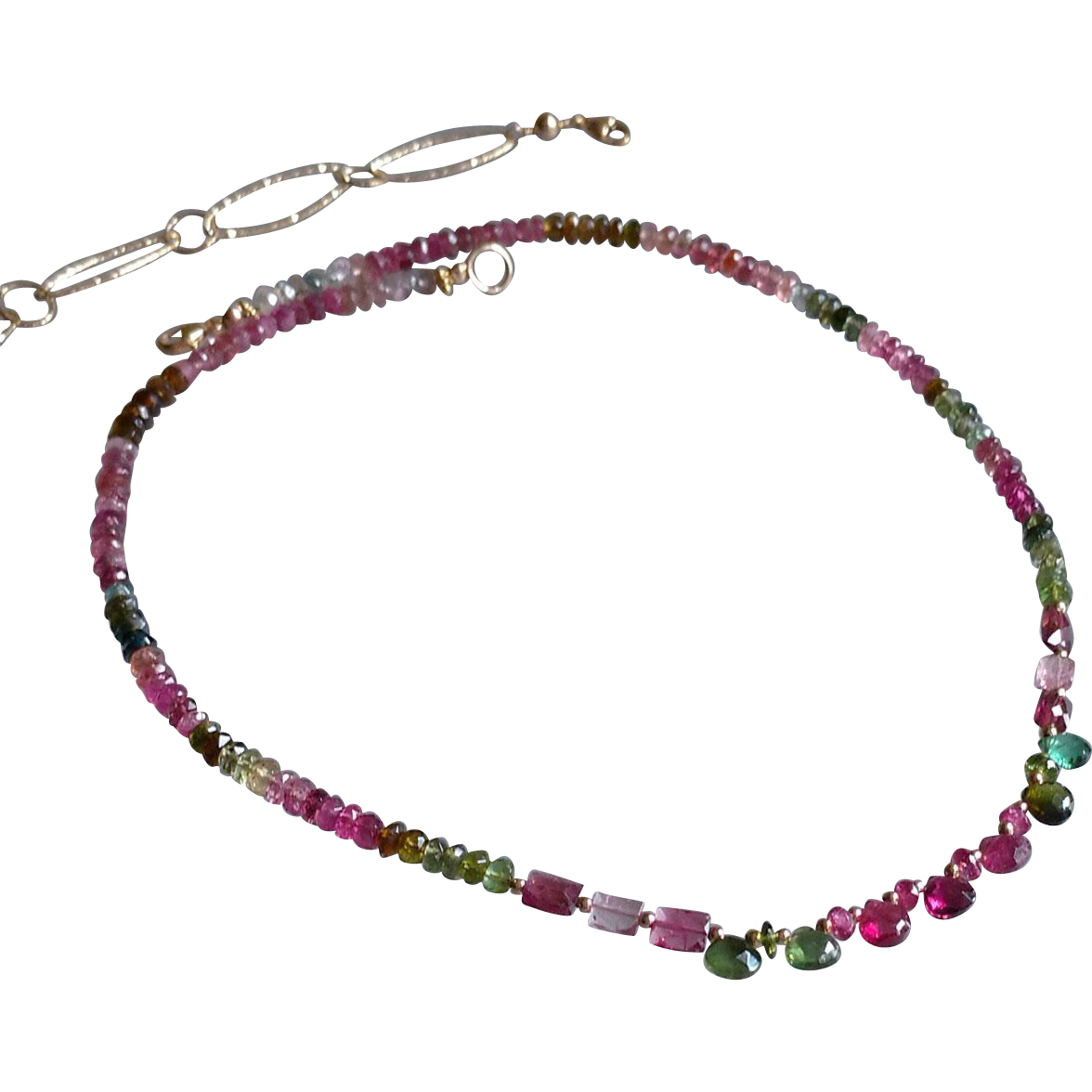 Dazzling Tourmaline Gemstone Necklace, Version 2