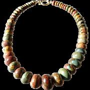 Picasso Jasper Bold Earth-Tone Necklace