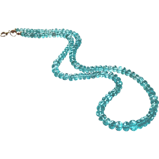 Apatite Gemstone Necklace with 14k Gold Fill