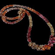 Tunduru Sapphire Gemstone Necklace with 14k Gold Fill