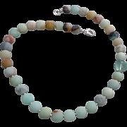Amazonite and Fluorite Gemstone Necklace