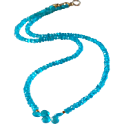 Neon Apatite Gemstone Necklace with 14k Gold Fill