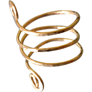 Spiral Ring Shown14k Gold Fill, Hammered, Any Size, Also Made with Sterling Silver