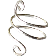 Sterling Silver or 14k Gold Fill Spiral Ring, Made to Size