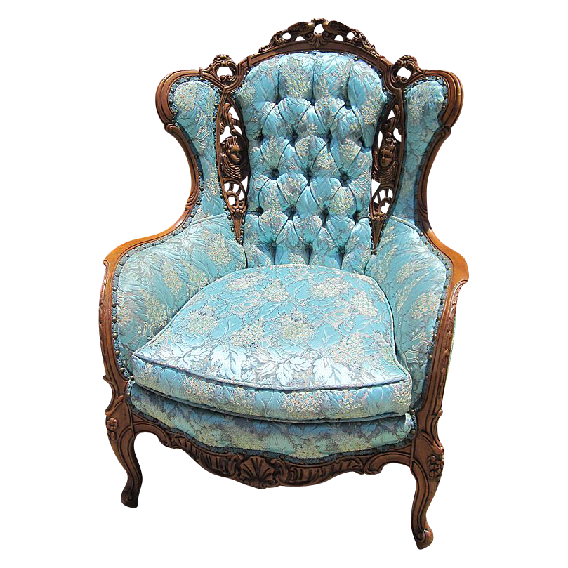 Lovely vintage french style chair armchair sold on ruby lane for Furniture armchairs