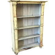 Antique Scandinavian Painted Rustic Bookcase