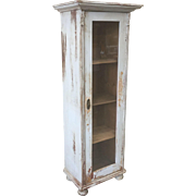 Swedish Antique Single Door Display Cabinet Bookcase