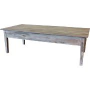 Swedish Antique Painted Rustic Coffee Table