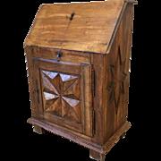 French Antique Carved Secretary Desk