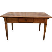 French Baker's Table Writing Table Desk With Drawer