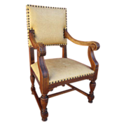 French Antique Leather Chair Armchair Antique Furniture