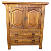Spanish Antique Arts and Crafts Mission Server Cabinet  Bar Antique Furniture